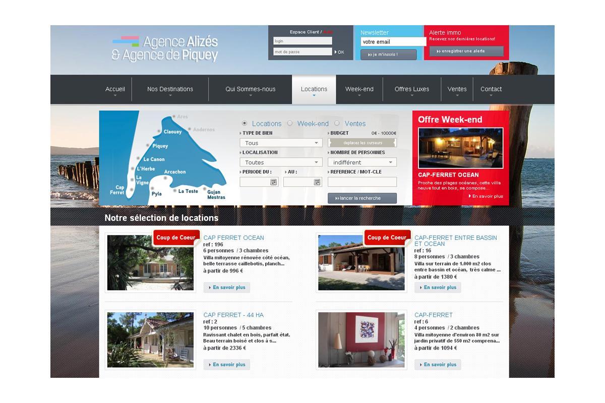Création site immobilier bordeaux, arcachon, paris