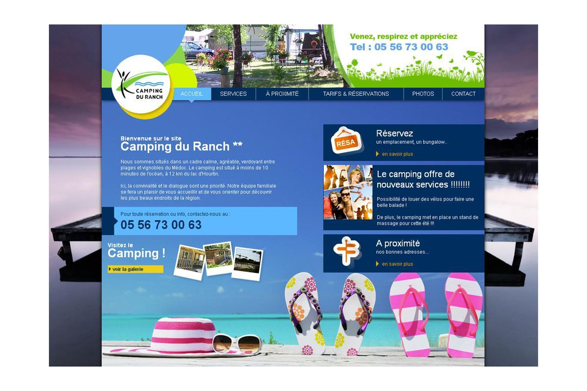 Création site internet camping gironde, médoc, landes, océan.