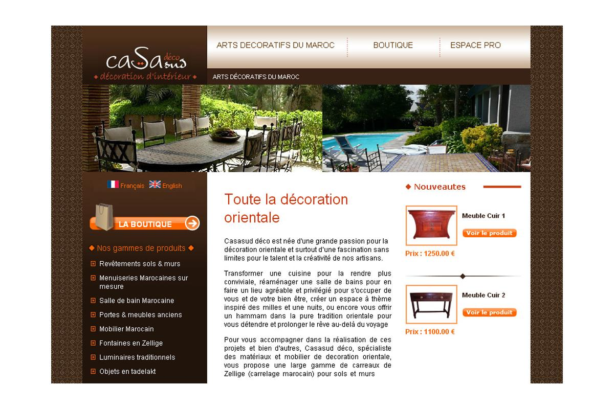 Site Internet Decoration Intérieure réalisations - casasud déco adelysnet, agence de