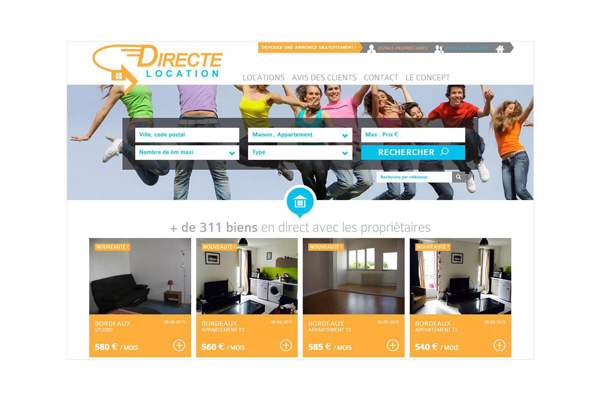 création appli mobile immobilier, locations immobilières, locations de vacances bordeaux pas cher