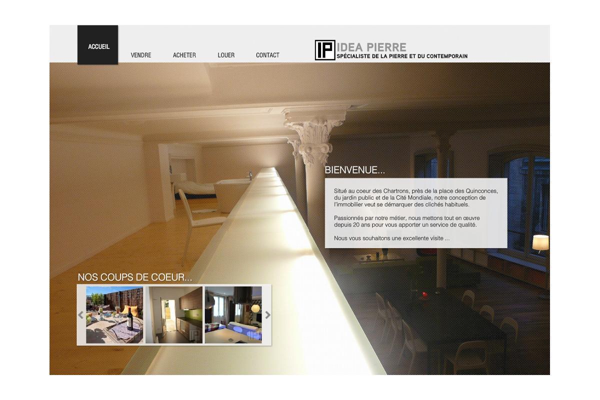création site internet agence immobilière Bordeaux