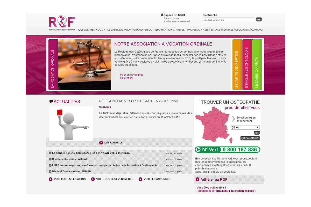 Création site internet et appli mobiles médecins, ostéopathes, labos...