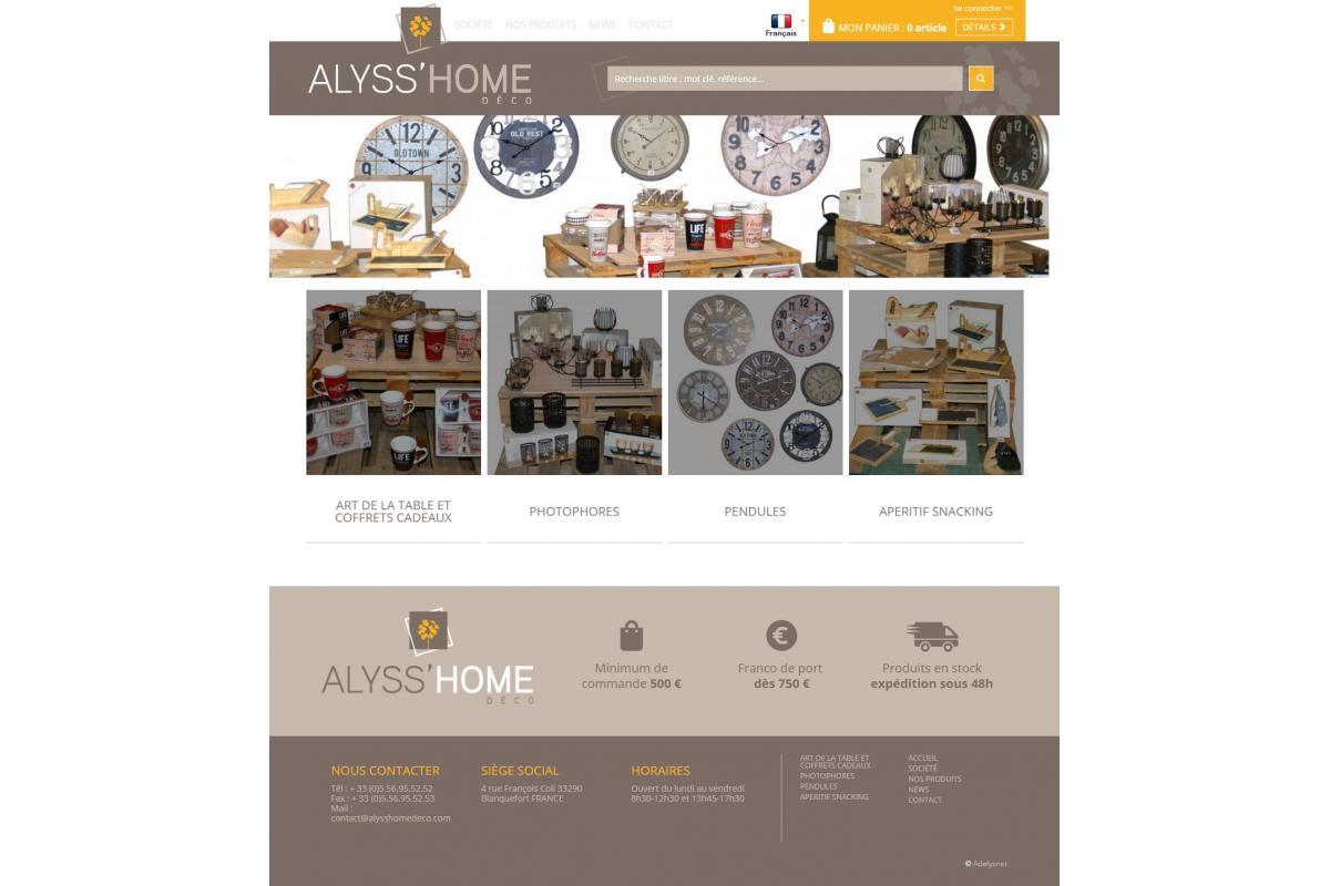 Site Internet Decoration Intérieure réalisations - alyss'home adelysnet, agence de communication