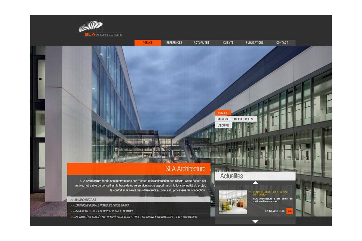 SLA Architecture Paris, site internet crée par Adelysnet